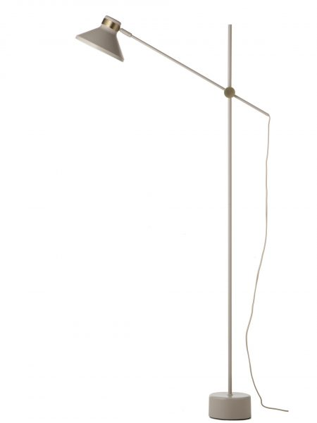 MR floor lamp taupe antique brass 3275
